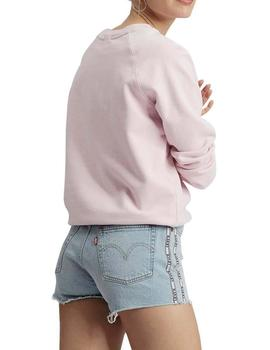 Sudadera Mujer Levis Relaxed Graphic Rosa