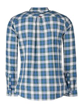Camisa Hombre Tommy Jeans Essential Check Cuadros Azul