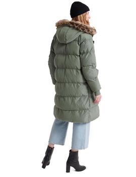 Parka Mujer Superdry Luxe Longline Puffer Verde