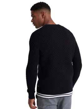Jersey Hombre Superdry Edit Cable Marino
