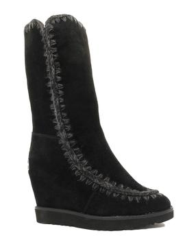 Bota Mou Mujer Eskimo French Toe Wedge Tall Negro