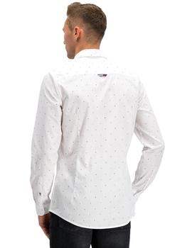 Camisa Hombre Tommy Jeans Ditsy Print Blanco