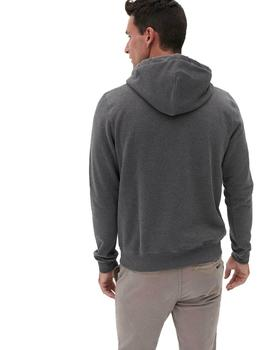 Sudadera Hombre Ecoalf Belize Label Gris Oscuro