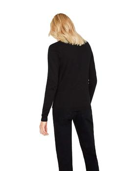 Jersey Mujer EDC By Esprit Basico C/Pico Negro
