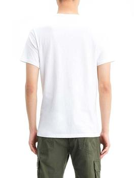 Camiseta Hombre Levis 2pk Crewneck Graphic White Grey