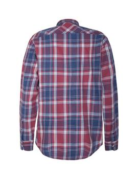 Camisa Hombre Pepe Jeans Stanley Marino Rojo