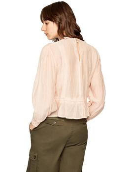 Mujer Blusa Pepe Jeans Blanche Rosa