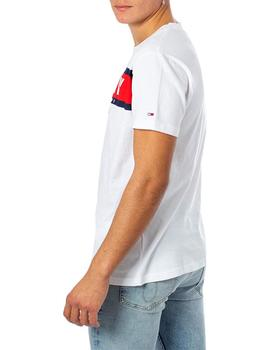 Camiseta Hombre Tommy Jeans Panel Logo Blanco