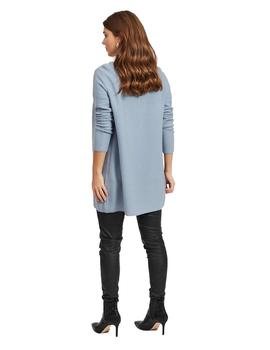 Cardigan Mujer Vila Vilalaine Knit L/S Long Noos Ashley Blue
