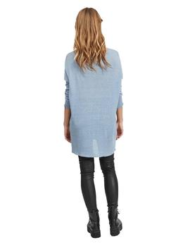 Jersey Mujer Vila Vifilak Knit L/S Oversize Tunic Ashley Blu