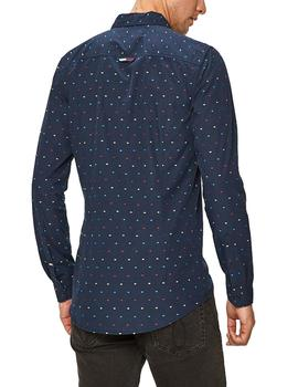 Camisa Hombre Tommy Jeans Colored Dobby Poplin Marino Multi