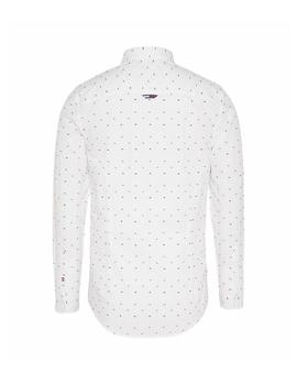 Camisa Hombre Tommy Jeans Colores Doby Poplin Blanco Multi