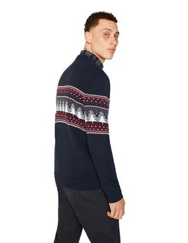 Jersey Hombre Esprit F Christmas Cnk Marino