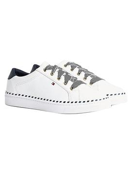 Zapatillas Mujer Tommy Hilfiger Nautical Lace Up Blanco