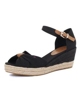 Cuña Mujer Tommy Hilfiger Basic Opened Toe Hight Wedge Negro