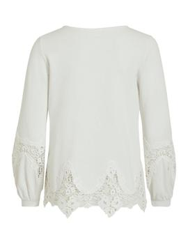 Camiseta Mujer Vila Viselace L/S New Whisper White