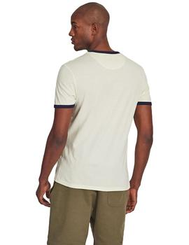 Camiseta Hombre Lyle And Scott Marino/Blanco