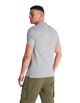 Polo Hombre Lyle And Scott M/C Gris