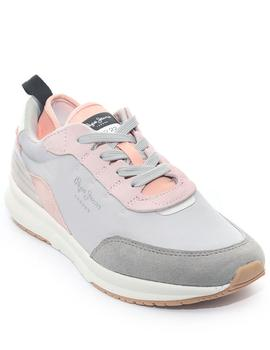 Zapatilla Mujer Pepe Jeans N22 Summer Gris Rosa