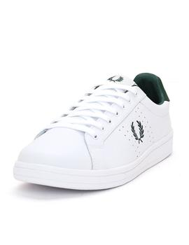 Zapatilla Hombre Fred Perry B721 Leather Blanco verde