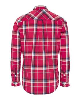 Camisa Hombre Tommy Jeans Essential Check Pocket Shirt Rojo/