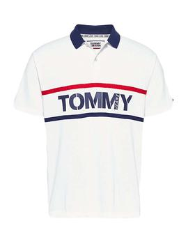 Polo Hombre Tommy Jeans Bold Graphic Polo Blanco