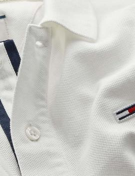 Polo Hombre Tommy Jeans Branded Rib Polo Blanco