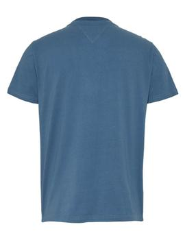 Camiseta Hombre Tommy Jeans 1985 Vertical Logo Azul