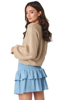 Jersey Mujer Rut And Circle Sarah Knot Knit Beige
