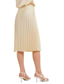 Falda Mujer Rut And Circle Bianca Pleated Skirt Beige