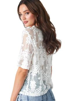 Camisa Mujer Rut And Circle Ella Lace Top Blanco