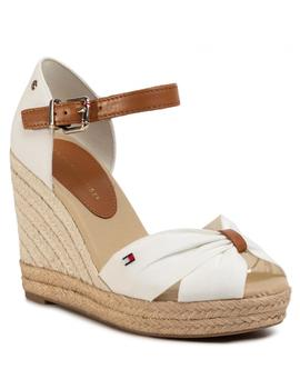 Cuña Mujer Tommy Hilfiger Basic Opened Toe Hight Wedge Blanc