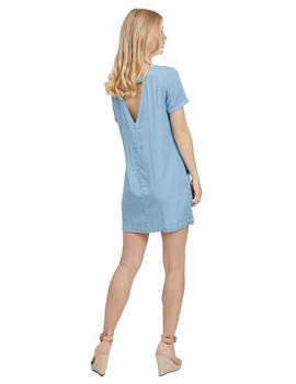Vestido Mujer Vila Vielectric S/S Piping Dress Azul Denim