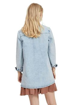 Camisa Mujer Vila Videnna L/S Long Shirt Light Blue Denim