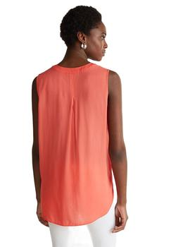 Blusa Mujer Esprit S/Mangas Fluida Coral