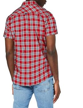 Camisa Hombre Tommy Jeans  Shortsleeve   Rojo