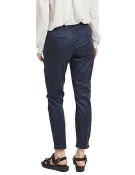 Pantalon Mujer Vila Vichino Rwre 7/8 New Pant Total Eclipse