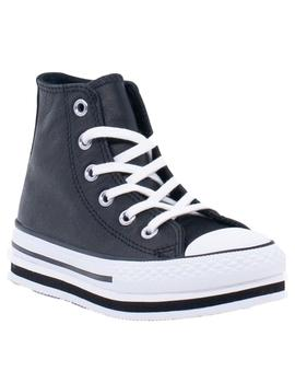 CHUCK TAYLOR HIGH PLATFORM LEATHER NEGRO