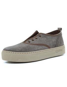 Zapatillas Mujer Natural World Ingles On Suede Antracita
