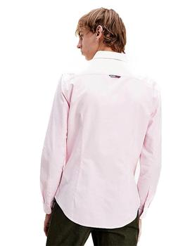 Camisa Hombre Tommy Jeans Stretch Oxford Shirt Pink