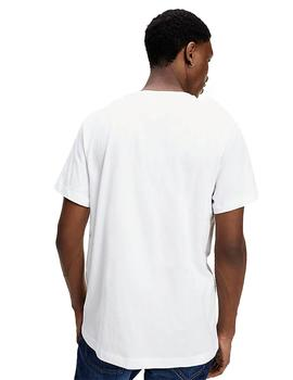 Camiseta Hombre Tommy Jeans Chest Corp Tee White