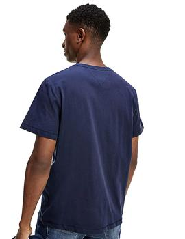 Camiseta Hombre Tommy Jeans Chest Corp Tee Navy