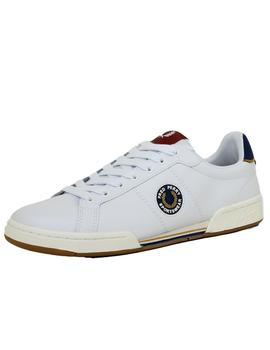 Zapatilla Hombre Fred Perry B722 Leather Blanco