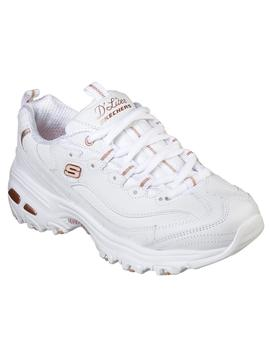 Zapatillas Mujer Skechers sports d`lites fresh start blanco