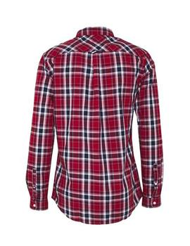 Camisa Hombre Tommy Jeans Faded Checks Shirt Wine Red/Mult