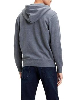 Sudadera Hombre Levis New Original Zip Up Charcoal Heather