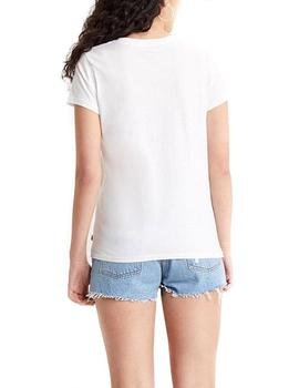 Camiseta Mujer Levis The Perfect Tee Cactus White