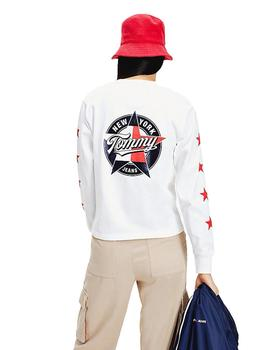 Camiseta Mujer Tommy Jeans Star Sleeve Longsleeve White