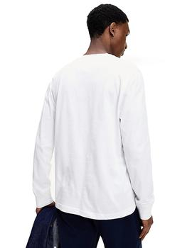 Camiseta Hombre Tommy Jeans Longsleeve Corp Logo Tee White