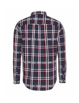 Camisa Hombre Tommy Jeans Branded Flannel Shirt Navy/Multi